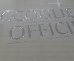 Adesivo Prespaziato resinato argento